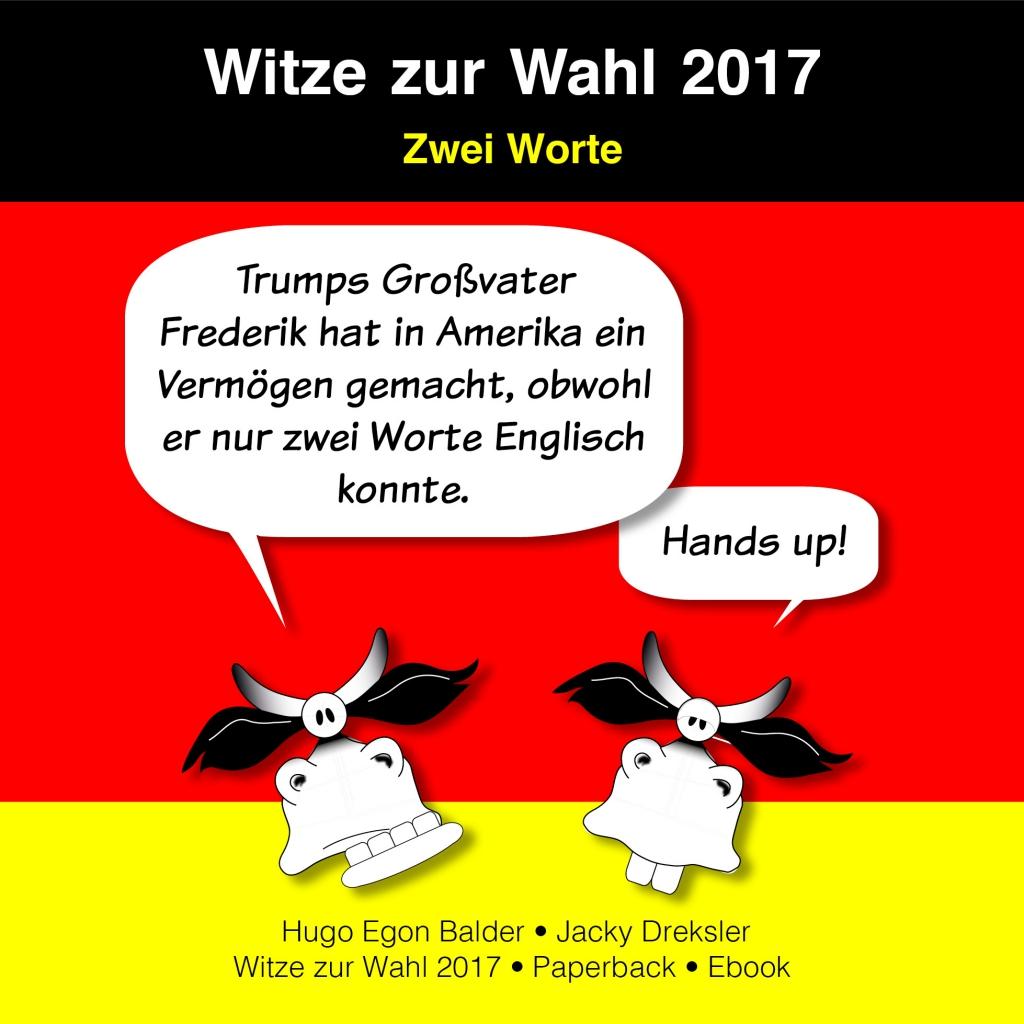 Trumps Großvater Frederik hat in Amerika ein Vermögen gemacht, obwohl er nur zwei Worte Englisch konnte. Handy up!